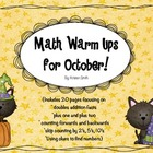 October Math Warm Ups!