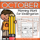October Morning Work for Kindergarten {Common Core Aligned}