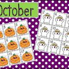 October Pattern Calendar Cards