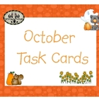 October Task Cards