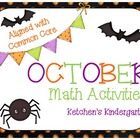 October Themed Math Centers