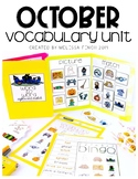October Vocabulary Unit- Boardmaker Curriculum for Student