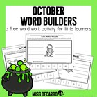 October Word Builders Freebie Pack!