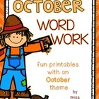 October Word Work