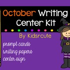 October Writing Center Kit ~ Prompts and Papers