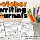 October Writing Journal and Task Cards