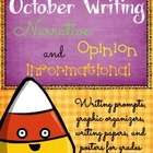 October Writing Prompts, Graphic Organizers, Papers, and Posters