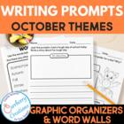 October Writing Prompts Pack 2 Narrative, 2 Expository, 2 Opinion