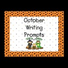 October Writing Prompts for Interactive Whiteboard and Lit