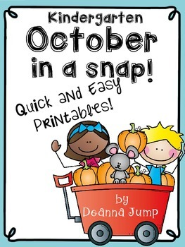October in a Snap:  Monthly No Prep Printables