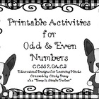 Odd and Even Color Code Activities for CCSS 2.OA.3