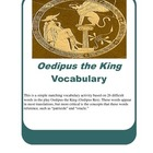 Oedipus the King Vocabulary Matching Activity (Oedipus Rex)