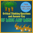 Of Mice and Men Critical Thinking Questions with Suggested