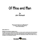 Of Mice and Men Literature Guide (First Edition)