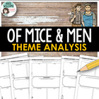 &quot;Of Mice and Men&quot; Themes - Graphic Organizer / Worksheets