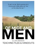 Of Mice and Men Handouts, Worksheets, and Projects! REVISED!