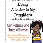 Of Thee I Sing by Barack Obama Accomodating Book Study Que