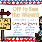 Off to See the Wizard--ELA and Math Stations