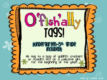 O'fish'ally in ____ Grade! {freebie}