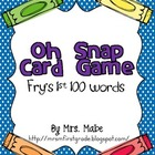 Oh Snap - High Frequency Word Game - Fry&#039;s 1st 100 Words