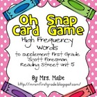 Oh Snap - High Frequency Word Game for Reading Street Unit 5