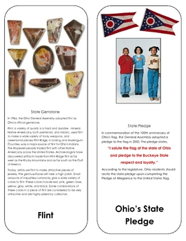 Ohio State Symbols Nomenclature (Three Part Cards)