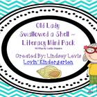 Old Lady Swallowed Shell - Literacy Mini Pack