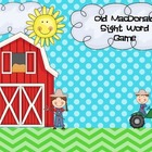 Old MacDonald Sight Word Game