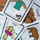 Old School Marm ASL - matching game  (animals)