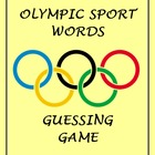 Olympic Games Sports Word Guessing Game - SMART NOTEBOOK