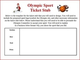 Olympic Persuasive letter writing project: create sport Co