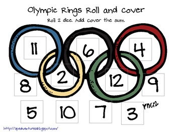 Olympic Themed Roll and Cover Games