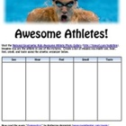 Olympics Awesome Athletes Poetry Using Sensory Details