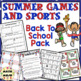 Olympics Back to School Pack