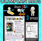 Olympics: Bio Writing Posters