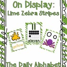 On Display ~ Lime Zebra Classroom Theme