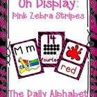 On Display ~ Pink & Black Zebra Classroom Theme