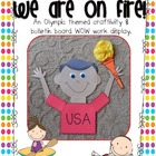 On Fire! An Olympic Torch {craftivity and bulletin board display}