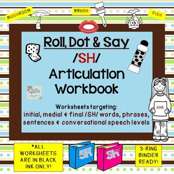 On Sale! Roll, Dot & Say Quick Print & NO PREP Articulatio