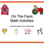 On The Farm- Math Activities Packet