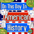 On This Day in American History! 365 Days of Daily Warmups