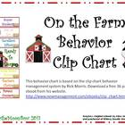 On the Farm Behavior Clip Chart