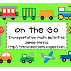 On the Go Transportation Math Activities