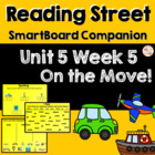 On the Move! SmartBoard Companion Reading Street Kindergarten