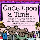Once Upon A Time....{A Fairy Tale packet of activities}