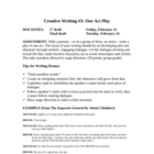 One-Act Play: Creative Writing Unit for Groups or Individu