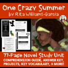 One Crazy Summer Reading Comprehension Activity Guide