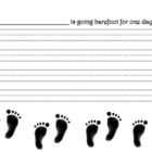 One Day Without Shoes Writing