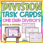 One Digit Divisor Division Task Cards { With &amp; Without Rem