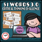 One Dollar Words 3.0 -- Critical Thinking